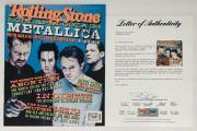 Metallica X4 James Hetfield Kirk Lars & Jason Signed Rolling Stone Psa U04972