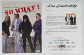 Metallica X4 James Hetfield Kirk Lars & Jason Signed So What! Vol 1/issue 1 Psa