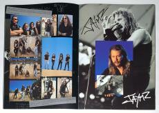 Metallica X4 James Kirk Lars Jason Signed Wherever We May Roam Tour Program Psa