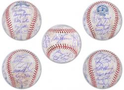 Rawlings New York Mets 1986 Team Signed Autographed Final Season Game-Used Baseball - Mounted Memories