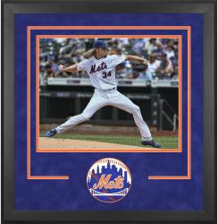 "New York Mets Deluxe 16"" x 20"" Horizontal Photograph Frame - Mounted Memories"