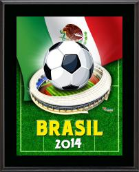 """Mexico 2014 Brazil Sublimated 10.5"""" x 13"""" Plaque"""