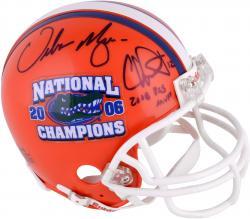 Chris Leak, Urban Meyer Florida Gators Autographed Riddell Mini Helmet