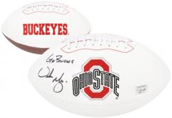 "Urban Meyer Ohio State Buckeyes Autographed Pro Football with ""Go Bucks"" Inscription - Mounted Memories"