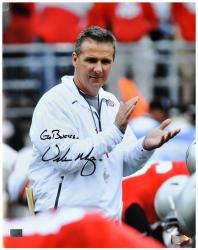 "Urban Meyer Ohio State Buckeyes Autographed 16"" x 20"" Photograph with 'Go Bucks' Inscription - - Mounted Memories"