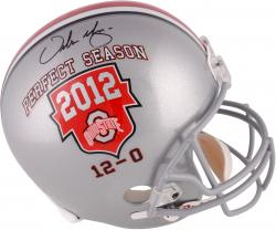 Urban Meyer Ohio State Buckeyes 2012 Perfect Season Autographed Riddell Replica Helmet