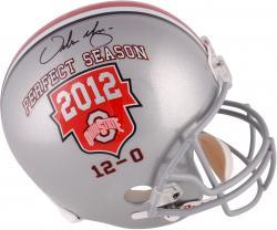 Urban Meyer Ohio State Buckeyes 2012 Perfect Season Autographed Riddell Replica Helmet