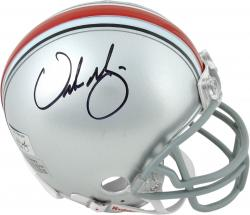 Urban Meyer Ohio State Buckeyes Autographed Mini Helmet - Mounted Memories