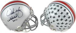 Urban Meyer Ohio State Buckeyes Autographed Mini Helmet  - - Mounted Memories