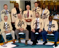 """Miami Dolphins Autographed 16"""" x 20"""" Hall of Famers Photograph with Multiple Signatures & Inscriptions"""