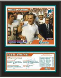 "Miami Dolphins 12"" x 15"" Sublimated Plaque - Super Bowl VII"