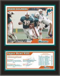 "Miami Dolphins 12"" x 15"" Sublimated Plaque - Super Bowl VIII"