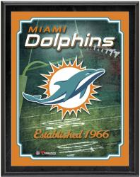 "Miami Dolphins Team Logo Sublimated 10.5"" x 13"" Plaque - Mounted Memories"