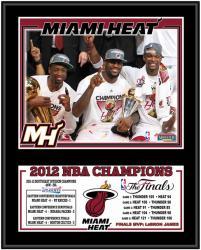 "Miami Heat 2012 NBA Finals Champions 12"" x 15"" Sublimated Plaque"