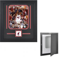 "Miami Heat Deluxe 8"" x 10"" Vertical Team Logo Frame - Mounted Memories"