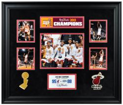 Miami Heat 2013 NBA Champions Framed 5-Photograph Collage-Limited Edition of 1