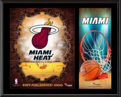 """Miami Heat Sublimated 12"""" x 15"""" Team Logo Plaque"""