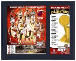 Miami Heat 2013 NBA Champions Sublimated 12x15 Plaque