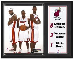 "Miami Heat Big 12"" x 15"" Plaque with 8"" x 10"" Photograph & Plate"
