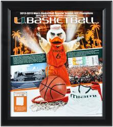 Miami Hurricanes 2013 Regular Season ACC Champs Framed Collage with Game-Used Jersey-Limited Edition of 500