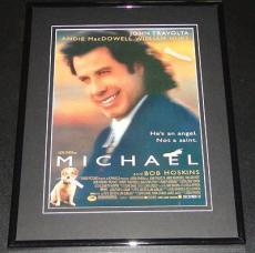 Michael 1996 11x14 Framed ORIGINAL Advertisement John Travolta Andie Macdowell