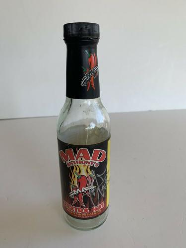 Michael Anthony Signed Autographed Mad Hot Sauce Bottle Beckett Certified