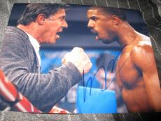 MICHAEL B JORDAN SIGNED AUTOGRAPH 8x10 PHOTO CREED PROMO PHOTO STALLONE ROCKY E
