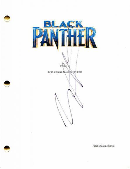 Michael B Jordan Signed Autograph Black Panther Movie Script - Chadwick Boseman
