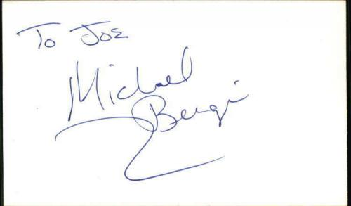 "Michael Bergi Actor Baywatch Signed 3""x5"" Index Card"