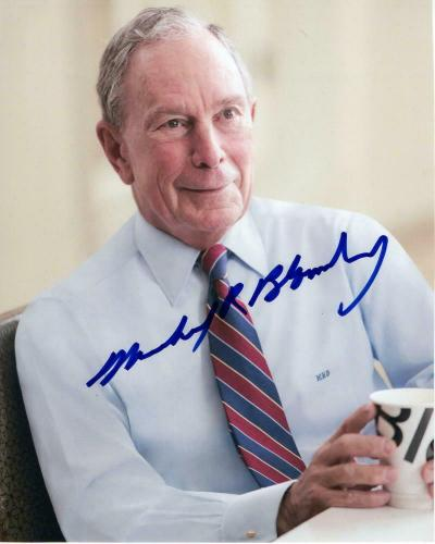 Michael Bloomberg - Signed Autograph 8x10 Photo - 2020, President, Donald Trump