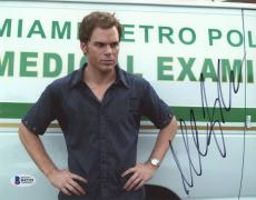 "Michael C. Hall Autographed 8"" x 10"" Dexter Arms on Hips Photograph - Beckett COA"
