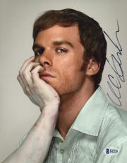 "Michael C. Hall Autographed 8"" x 10"" Dexter Dead Arm Photograph - Beckett COA"