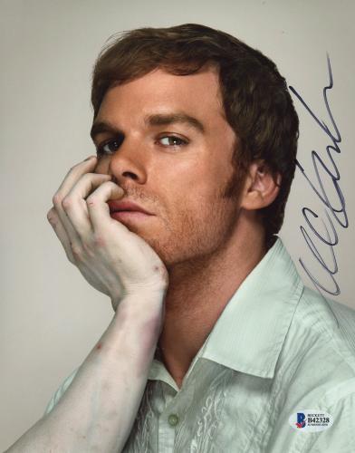 "Michael C. Hall Autographed 8"" x 10"" Dexter Dead Arm Photograph - Beckett COA"