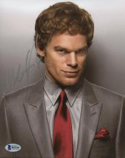 "Michael C. Hall Autographed 8"" x 10"" Dexter Grey Suit Photograph - Beckett COA"