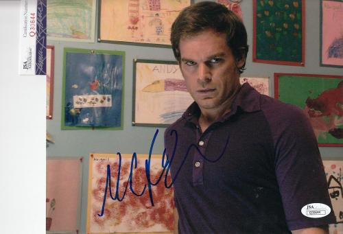 Michael C Hall autographed Dexter Morgan 8x10 Photo JSA Authentic COA Q30644