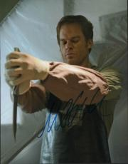 Michael C Hall Autographed Signed Dexter 11x14 Stabbing Photo AFTAL