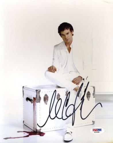 MICHAEL C HALL DEXTER Hand Signed PSA DNA COA 8x10 Photo Autographed Authentic