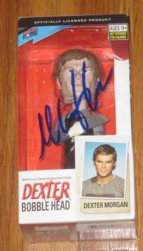 Michael C Hall Dexter Signed Dexter Bobble Head Toy Official Autograph Coa B