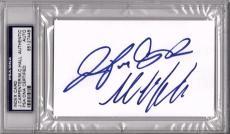 """MICHAEL C. HALL & JENNIFER CARPENTER """"Dexter"""" Signed Index Card PSA/DNA Slabbed"""