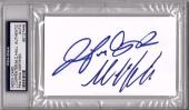 "MICHAEL C. HALL & JENNIFER CARPENTER ""Dexter"" Signed Index Card PSA/DNA Slabbed"