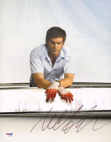 """MICHAEL C. HALL Signed Autographed """"DEXTER"""" 11x14 Photo PSA/DNA #W94488"""