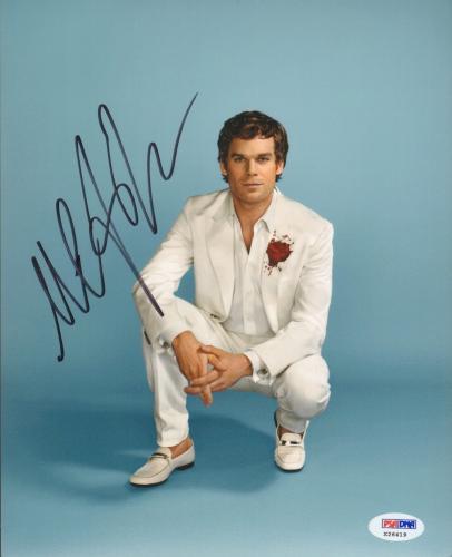 """MICHAEL C. HALL Signed Autographed """"DEXTER"""" 8x10 Photo PSA/DNA #X26419"""