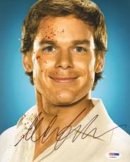 MICHAEL C. HALL Signed Autographed DEXTER 8x10 Photo PSA/DNA #X26452