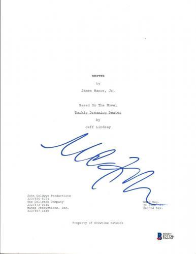Michael C Hall Signed Autographed DEXTER Pilot Episode Script Beckett BAS COA