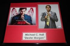 Michael C. Hall Signed Framed 16x20 Photo Display JSA Dexter