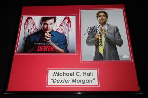 Michael C. Hall Signed Framed 16x20 Photo Display JSA Dexter