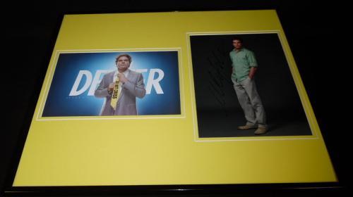 Michael C Hall Signed Framed 16x20 Photo Display JSA Dexter