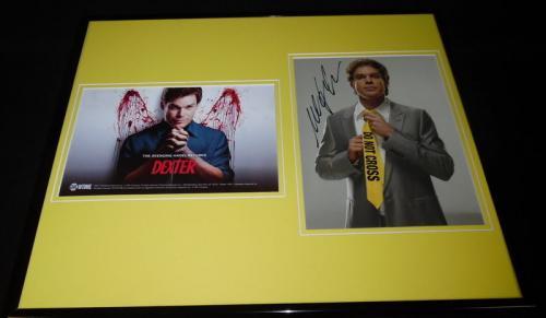 Michael C Hall Signed Framed 16x20 Photo Set JSA Dexter