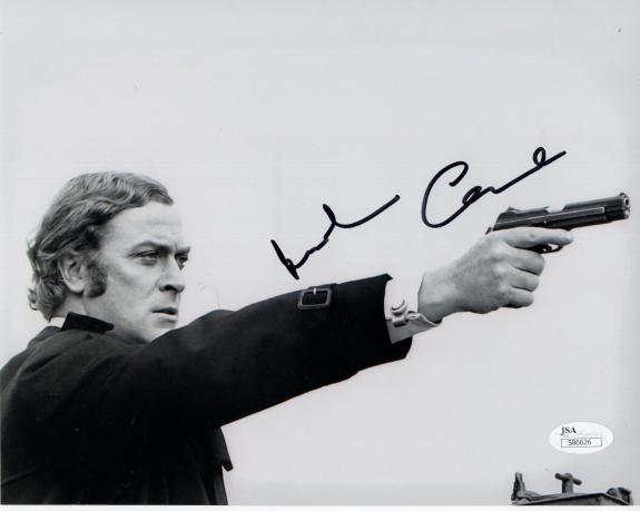 MICHAEL CAINE HAND SIGNED 8x10 PHOTO       GREAT POSE       GET CARTER       JSA
