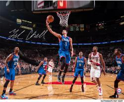Michael Carter-Williams Philadelphia 76ers Autographed 16'' x 20'' Layup vs. Portland Trail Blazers Photograph - Mounted Memories